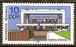 Sellos de Europa - Alemania -  Monumentos técnicos: Elevador de barcos de Magdeburgo-Rothensee-DDR.