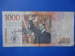 monedas del Mundo : America : Colombia :  Bco.de la República Un Mil Pesos-Concentración Pública del Dr.Jorge Eliécer Gaitán (reverso)