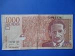 monedas de America - Colombia -  Banco de la República Un Mil Pesos (oro)-El Caudillo Liberal Dr.Jorge Eliécer Gaitán (anverso)