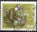 Stamps Switzerland -  podando viña