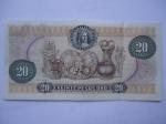 monedas de America - Colombia -  Banco.de la República-Veinte Pesos-Estatuillas Precolombina Museo de Oro.(reverso)