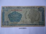 monedas de America - Venezuela -  Rep.Bolivariana de V/zuela- Dos Bolívarres- Bolívar Libertador (anverso)