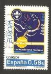 Stamps Spain -  4322 - Centº del Movimiento Scout