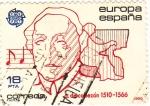 Stamps Spain -  Antonio de Cabezón- Compositor  (Y)