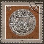 Sellos de Europa - Alemania -  Monedas históricos,moneda Ciudad Thaler Erfurt, 1633-DDR.