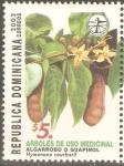 Stamps Dominican Republic -  HYMENAEA  COURBARIL  PLANTA  MEDICINAL