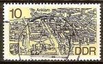 Sellos de Europa - Alemania -  Paisaje urbano de Anklam-DDR.