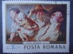 Sellos de Europa - Rumania -  Pintores: Jacobo Jordaens- Oleo:Vara.