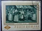 Stamps : Europe : Romania :  Pintores:J. Al Steriadi- Oleo: Chivutele