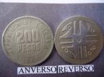 monedas de America - Colombia -  Rep.de Col. $200,oo (anv.)Fig. Precolombina, culturas quimbayas.(rev.)