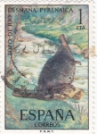 Sellos de Europa - España -  FAUNA HISPÁNICA-Topo de Río  (y)