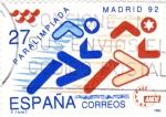 Sellos de Europa - España -  Paralimpiada Madrid-92  (Y)