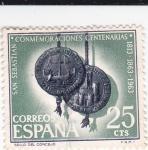 Stamps Spain -  Conmemoraciones Centenarias San Sebastián -Sello del Consejo  (Y)