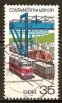 Sellos de Europa - Alemania -  Transporte de contenedores, el transporte por ferrocarril (DDR).