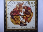 Stamps Germany -  Weihnaghten 1989