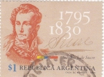 Stamps Argentina -  Antonio J de Sucre- 1795-1830