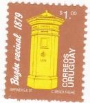 Sellos de America - Uruguay -  Buzón Vecinal 1879