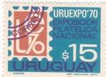 Sellos de America - Uruguay -  URUEXPO'70