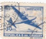 Stamps Uruguay -  Cuatrimotor