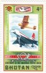 Sellos de Asia - Bhután -  Centenario Universal de la Unión Postal 1874-1974