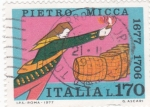 Stamps Italy -  Pietro Micca- Soldado heróico