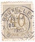 Stamps Belgium -  Cifras y León Rampante