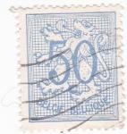 Stamps Belgium -  Cifra y León Rampante