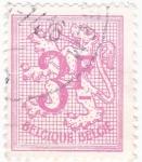 sello : Europa : Bélgica : Cifra y León Rampante