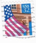 Sellos del Mundo : America : Estados_Unidos : Bandera Estado Unidense
