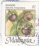 Stamps Asia - Malaysia -  Manggis- Garcinia mangostana