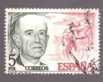 Stamps of the world : Spain :  Manuel de Falla- Cent. nacimiento