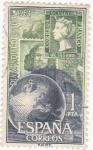 Stamps Spain -  Día Mundial del Sello-1964  (Z)