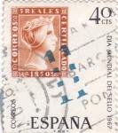 Stamps Spain -  Día Mundial del Sello 1967  (Z)