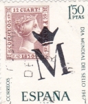 Stamps : Europe : Spain :  Día Mundial del Sello- 1967  (Z)
