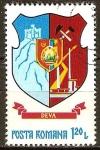 Sellos de Europa - Rumania -  Escudo de armas de los condados rumanos-Deva.
