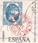 Stamps Spain -  Día Mundial del Sello- 1976  (Z)
