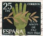 Stamps Spain -  Alegorías de la Paz -XXV Años de Paz Española  (Z)