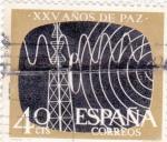 Stamps Spain -  Telecomunicaciones -XXV Años de Paz Española  (Z)