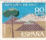 Stamps Spain -  Repoblación Forestal -XXV Años de Paz Española  (Z)
