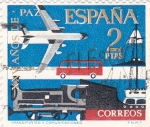 Sellos de Europa - España -  Transporte -XXV Años de Paz Española  (Z)
