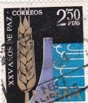 Stamps Spain -  Regadíos -XXV Años de Paz Española  (Z)