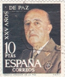 Stamps Spain -  General Franco -XXV Años de Paz Española  (Z)