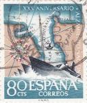 Stamps Spain -  Paso del Estrecho -XXV Aniversario del Alzamiento Nacional  (Z)
