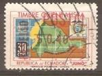 Stamps Ecuador -  MAPA  DEL  ECUADOR.   SOBRECARGA
