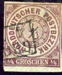 Stamps Germany -  Cifras. Confederación Alemana del Norte