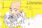 Sellos de Europa - España -  Literatura -Miguel de Cervantes -ATM    (Z)