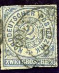 Stamps Germany -  Cifras. Confederacion Alemana del Norte