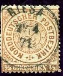 Stamps Europe - Germany -  Cifras. Confederacion de Alemania del Norte