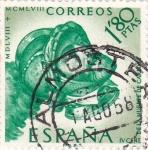 Stamps Spain -  IV Centenario de la Muerte de Carlos I de España y V de Alemania  (Z)