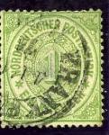 Stamps Europe - Germany -  Cifras. Confederación Alemania del Norte